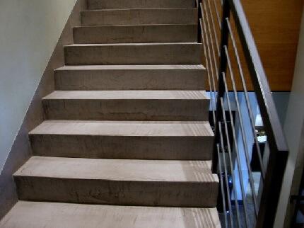 betonowe schody z mikrocementu