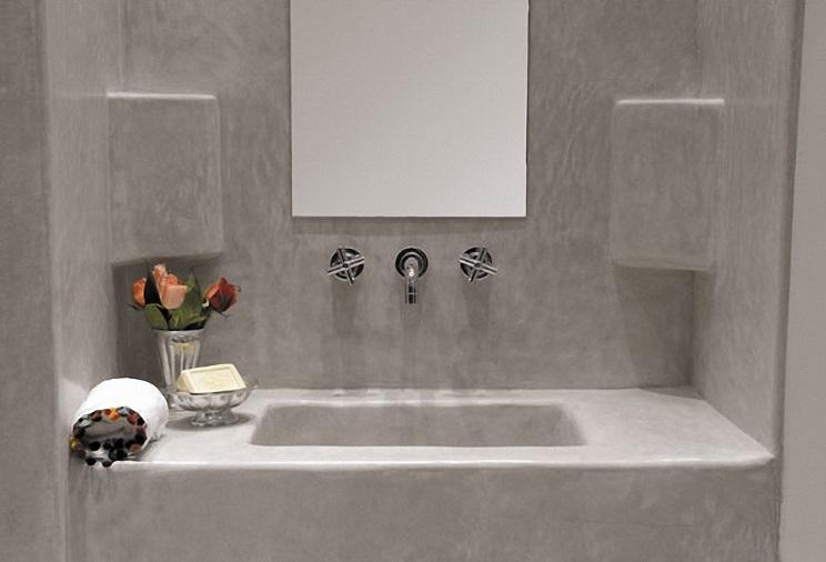 łazienka betonowa